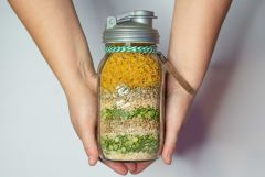 Friendship Soup Mix in a Mason Jar