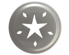 Star Cutout Stainless Steel Lid Inserts for Regular Mouth Mason Jars, 10-Pack