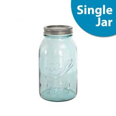 Ball® Mason Jar Aqua Vintage | 32ounce Quart |  Regular Mouth | Single Jar