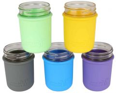 Silicone Sleeve for Wide Mouth Pint Mason Jars, 2-Pack
