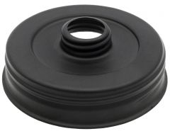 Matte Black Threaded Soap Pump Lid Adapter for Wide Mouth Mason Jars, 2-Pack