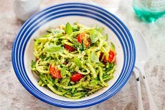 Zesty Zucchini Noodles With Green Tea Pesto