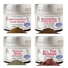 Berries & Vanilla Cane Sugars Collection - 4 Tins