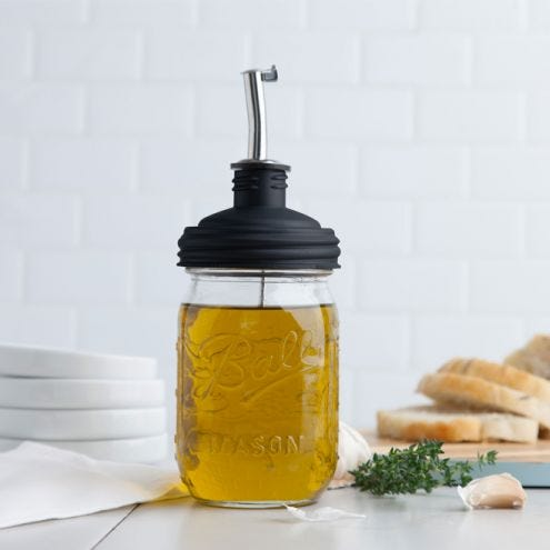Homemade Infused Olive Oils in Mason jars