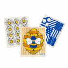 Wet-It Honeybee Sponge Cloth Set of 3