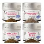 Autumn Harvest Cane Sugars Collection - 4 Tins