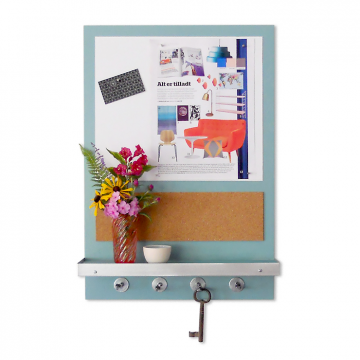 ABODE - Whiteboard Message Center with Shelf