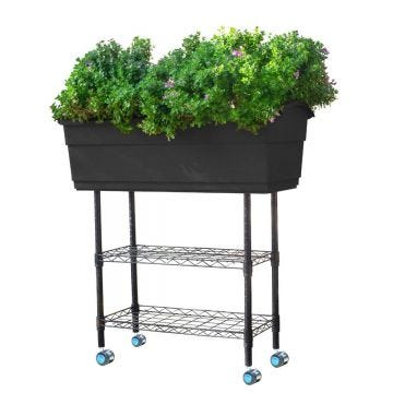 This mobile planter is perfect for small space gardening for apartment patios, decks, yards or even to add to your ever-growing garden.