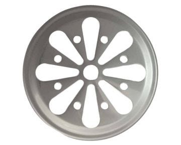 Daisy Cut Stainless Steel Lid Inserts for Mason Jars, 10-Pack
