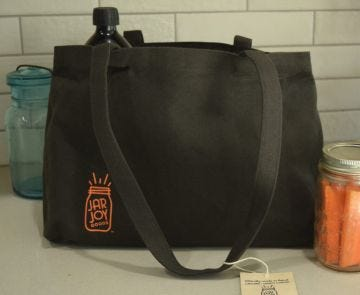 Waxed canvas organic sustainable  ethically made in Nepal World  Fair Trade Certified Jar Bag Jar Tote homestead