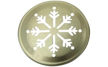 Snowflake Pattern Gold Lid Inserts for Regular Mouth Mason Jars, 10-Pack
