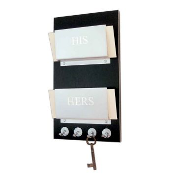 HIS // HERS - Personalized Double Mail Holder