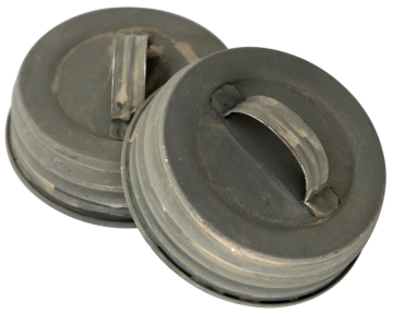 Barn Roof Zinc Handle / Canister Lids for Wide Mouth Mason Jars, 4-Pack