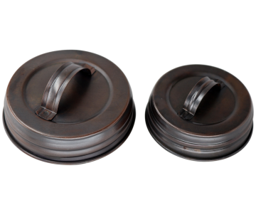 Oil Rubbed Bronze Handle / Canister Lids for Mason Jars, 4-Pack