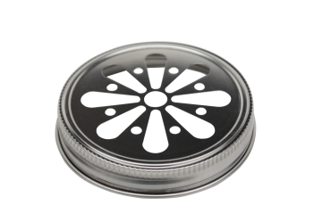 Stainless Steel Daisy Cut Lid for Mason Jars, 5-Pack