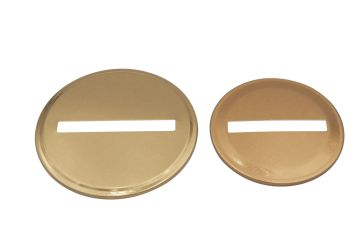 Copper Coin Slot Bank Lid Inserts for Mason Jars, 10-Pack