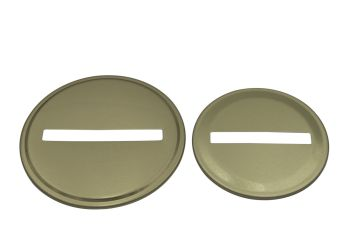 Gold Coin Slot Bank Lid Inserts for Mason Jars, 10-Pack
