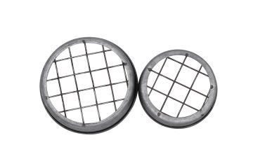 Galvanized Metal Flower Organizer Frog Lid with Square Grid for Mason Jars, 3-Pack