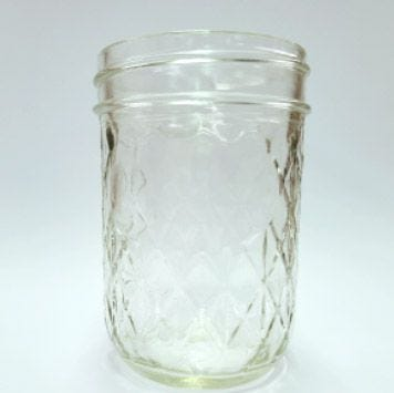 8 Ounce Regular Mouth Quilted Ball Mason Jars | No Lids | Case of 12