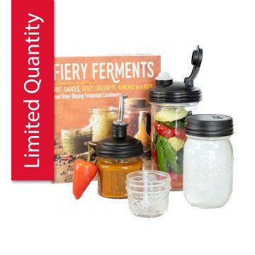 Firey Ferments Gift Set with jars and lids