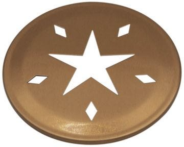Star Pattern Copper Lid Inserts for Regular Mouth Mason Jars, 10-Pack