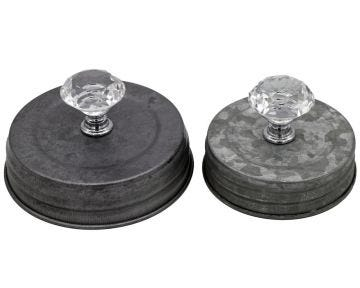 Decorative Crystal Knob Canister Lid for Mason Jars, 4-Pack