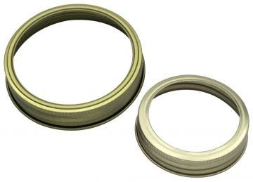 Gold Bands / Rings for Mason Jars, 10-Pack