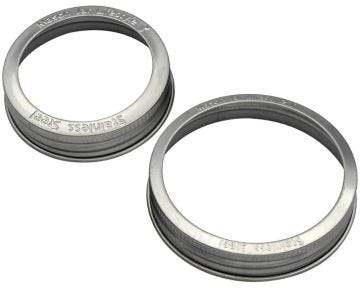 Rust Proof Stainless Steel Bands / Rings for Mason Jars, 5-Pack