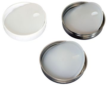 Leak Proof Platinum Silicone Sealing Lid Inserts/Liners for Mason Jars, 10-Pack