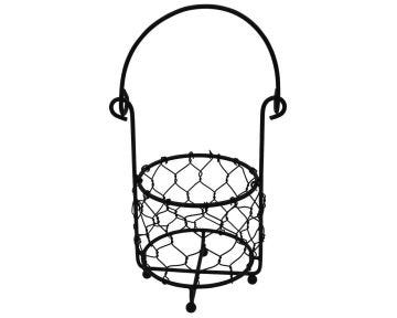 Single Pint Jar Caddy with Chicken Wire for Hanging or Carrying One Mason Jar, 3-Pack