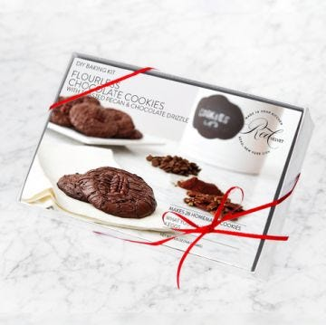 DIY Baking Kit: Flourless Chocolate Pecan Cookies with Chocolate Drizzle