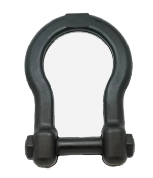 Industrial Dog by SodaPup - Natural Rubber Anchor Shackle Shaped Dog Tug Toy, Guaranteed Tough, Made in USA, Large, Black