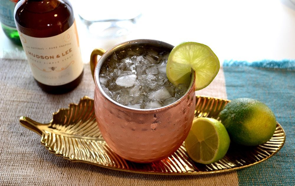 Skinny Moscow Mule recipe.