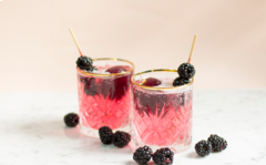 Blackberry Red Wine Spritzer how to.
