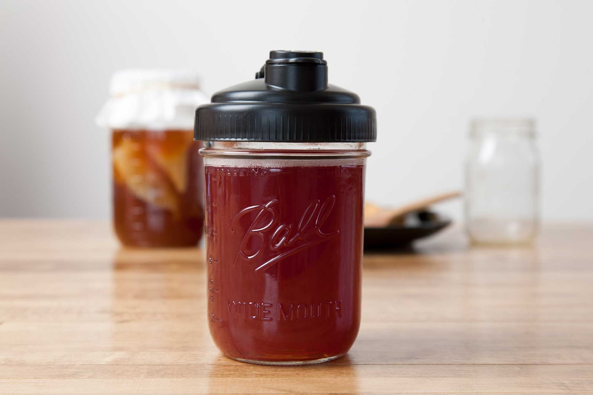Brew Your Own Kombucha in Mason jars recipe.