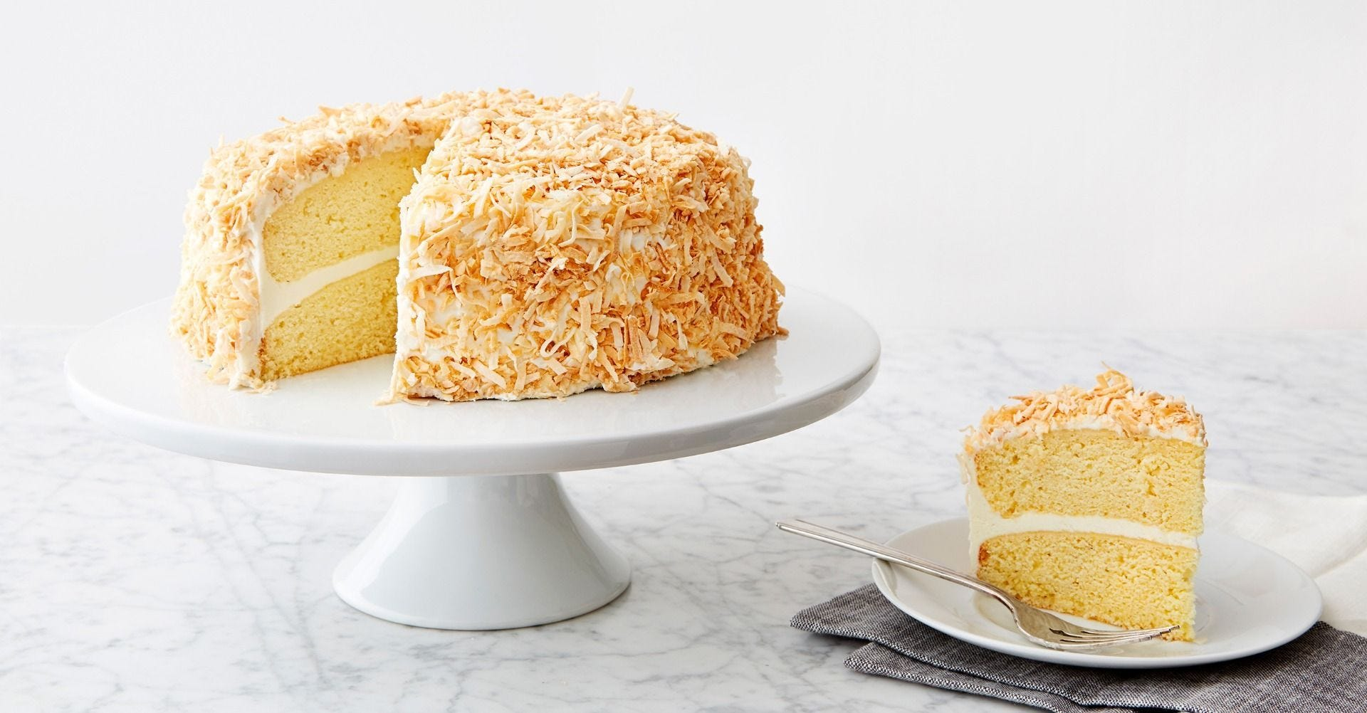 Coconut Cake with Toasted Flakes recipe.