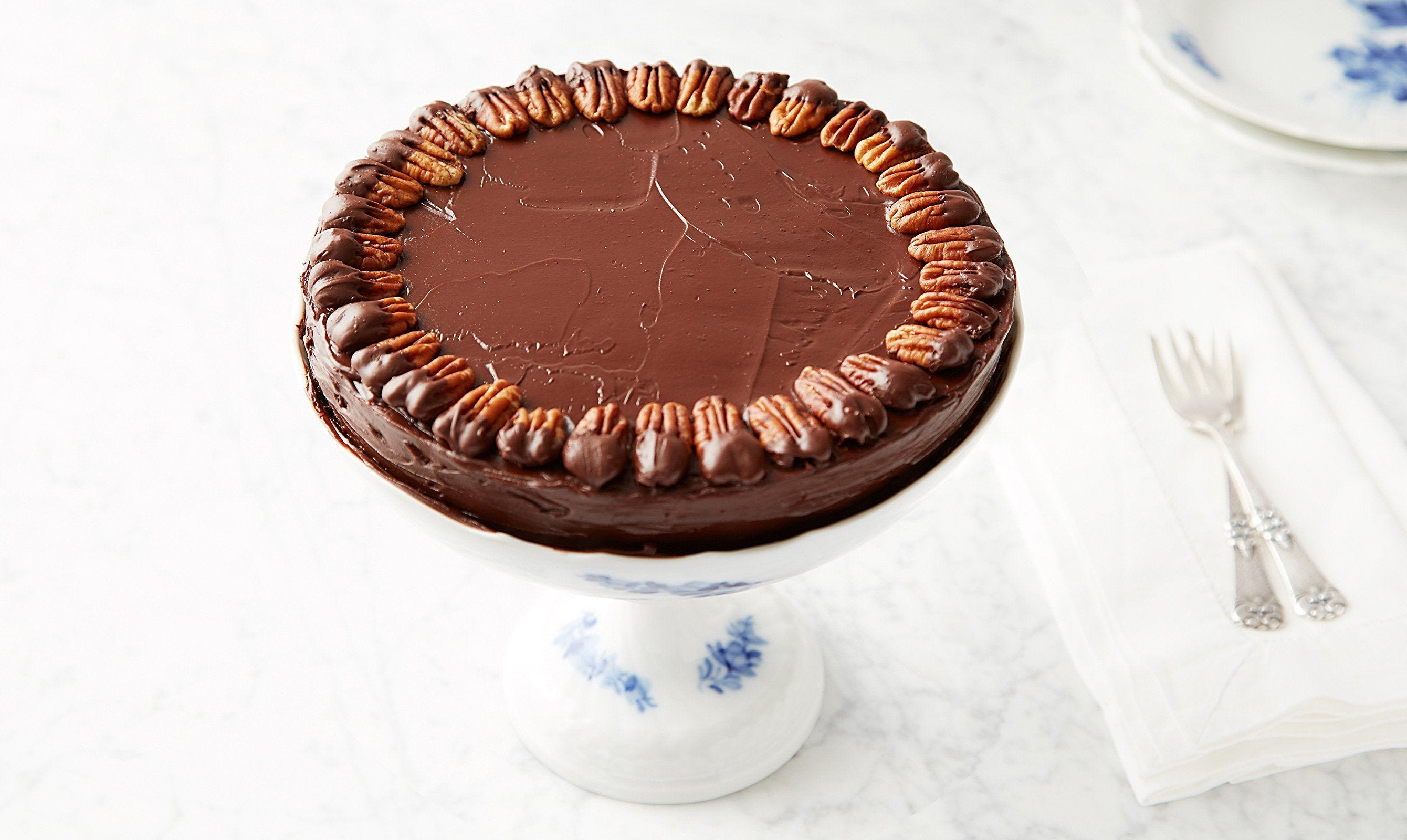 Chocolate Pecan Torte with Chocolate Glaze recipe.
