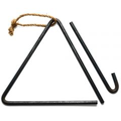 Jacob Bromwell Heavy Duty Triangle Dinner Bell, Used by Pioneers and Ranchers Since 1819, Made in America