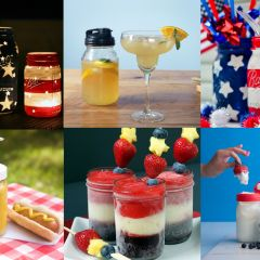 4th of July Mason Jar Recipes and Crafts