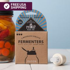 reCAP® Mason Jars Fermentation: Waterless Airlock + Stopper, 3-pack