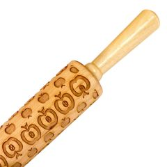 Apple Embossing Maple Rolling Pin