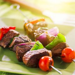 Red Hot Summer Beef Sirloin Skewers