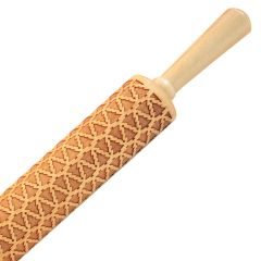 Humble Elephant Christmas Tree Embossing Maple Rolling Pin