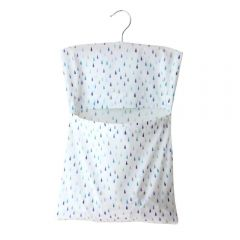 Clothespin bag, raindrops print