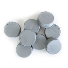 reCAP® Mason Jars Lid FLIP Cap, Regular Mouth, Silver - 8 pack