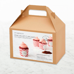 DIY Baking Kit: Pink Velvet Cupcakes with Cream Cheese Frosting