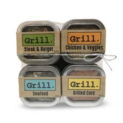 Grilling Spices Seasoning Rubs for Meat and Veggies - Pack of 4