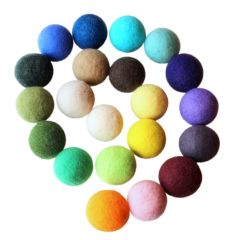 Wool dryer balls, set of 2