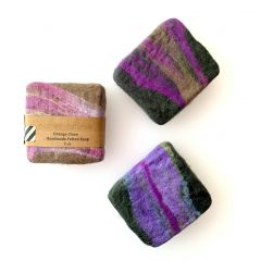 Handmade Felted Soaps with Essential Oils