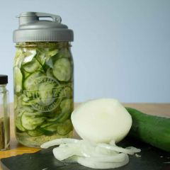 Sweet Refrigerator Pickles, Grandma's Recipe